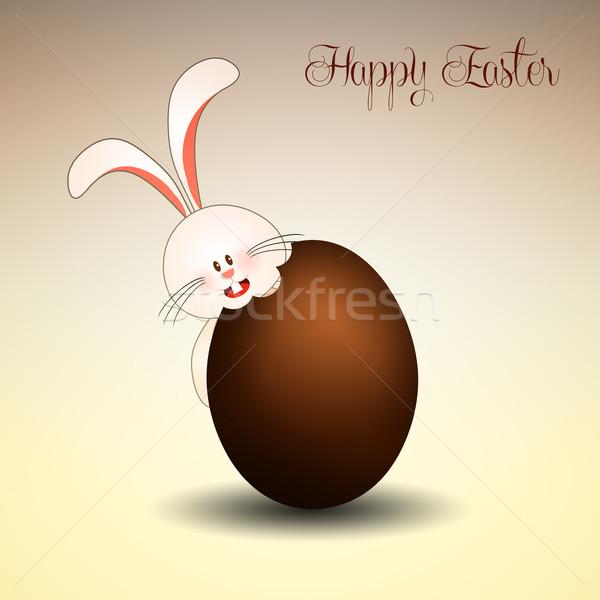 Bunny easter egg ilustracja czekolady jaj Wielkanoc Zdjęcia stock © sognolucido