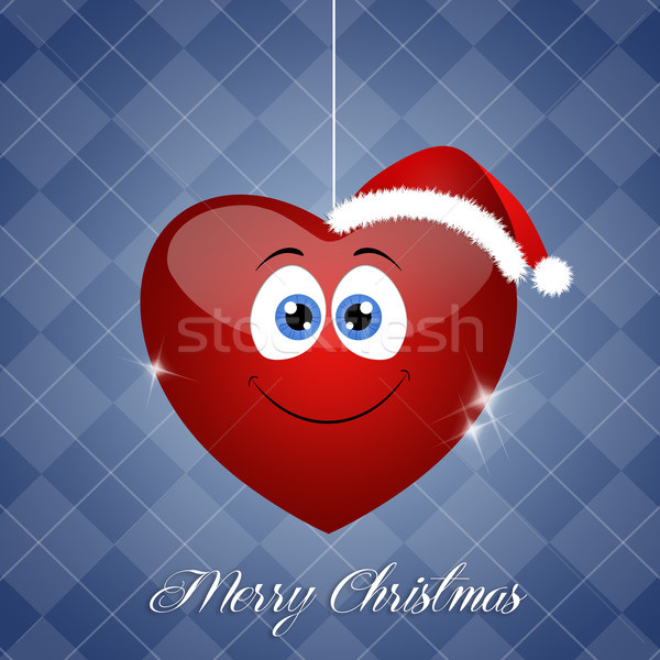 смешные сердце Рождества праздников украшение Сток-фото © sognolucido