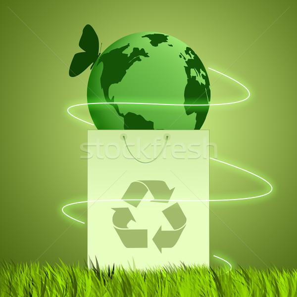 зеленый земле экологический сумку экология трава Сток-фото © sognolucido