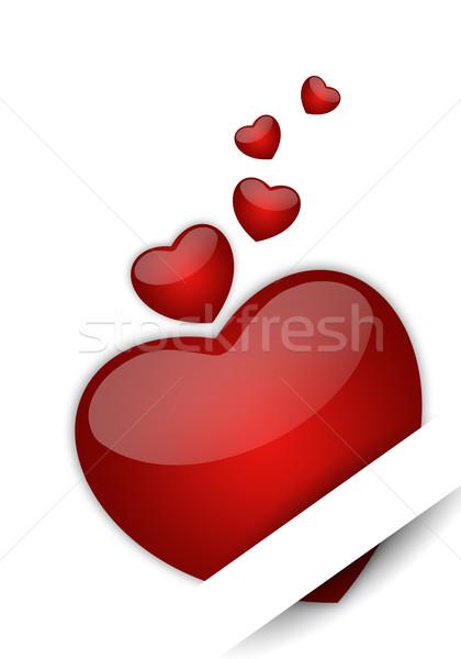 Kalpler sevgililer günü mutlu sevmek Stok fotoğraf © sognolucido