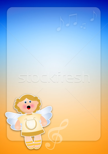 Anjo natal fundo céu desenho animado felicidade Foto stock © sognolucido