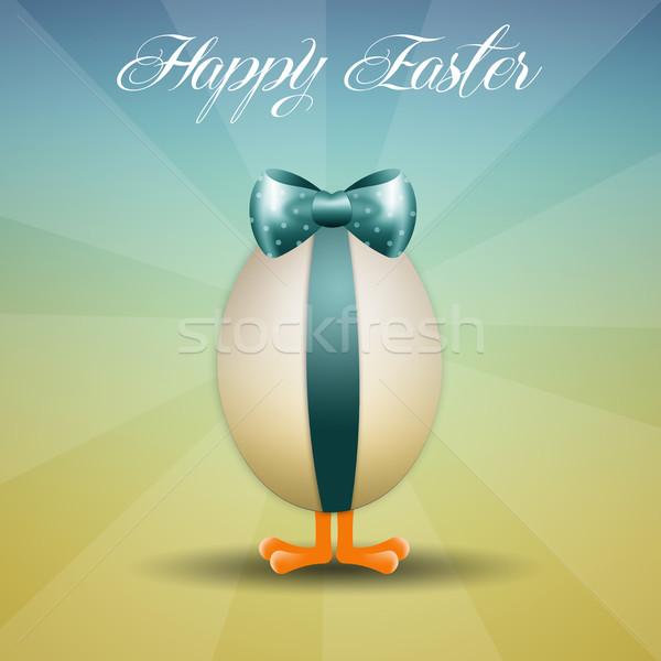 куриного Христос воскрес яйцо лента Пасху весны Сток-фото © sognolucido