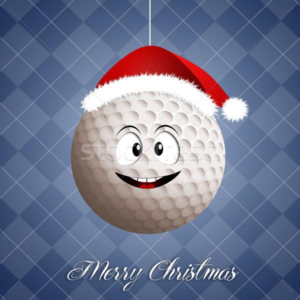 ストックフォト: 面白い · ゴルフボール · クリスマス · ゴルフ · スポーツ · ボール