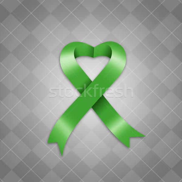 Awareness green ribbon Stock photo © sognolucido