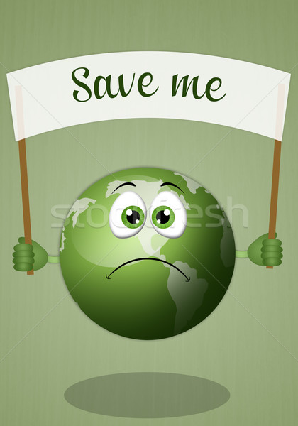 Sad earth for save the planet Stock photo © sognolucido