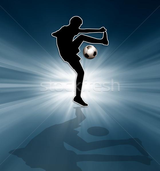 Soccer player silhouette Stock photo © sognolucido