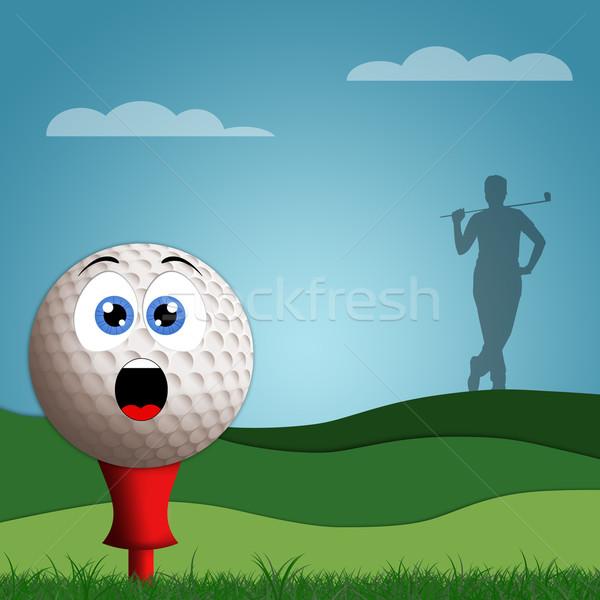 Funny golf ball Stock photo © sognolucido