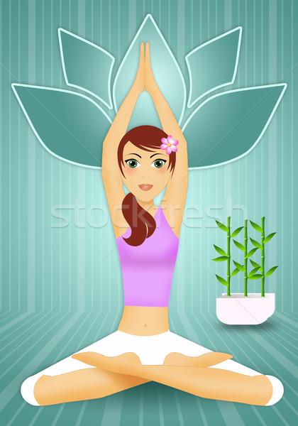 ストックフォト: 女性 · ヨガのポーズ · 実例 · ヨガ · 瞑想 · 行使