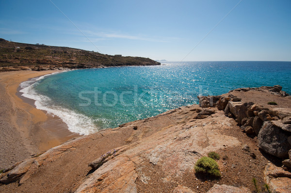 Lia beach in Mykonos Stock photo © sognolucido