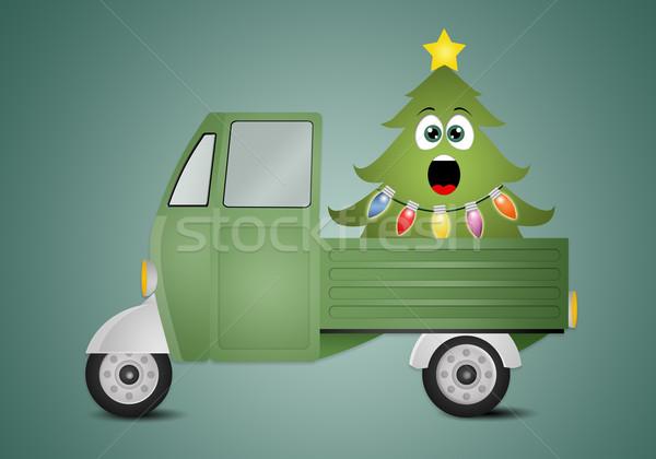 Funny Christmas tree Stock photo © sognolucido