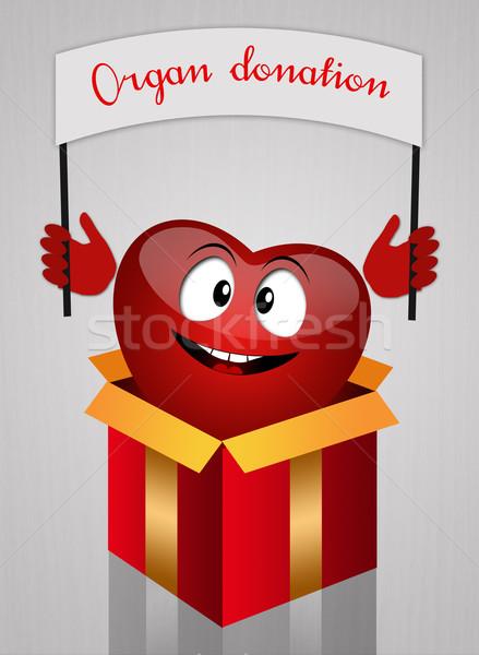 Organo donazione illustrazione divertente cuore medici Foto d'archivio © sognolucido