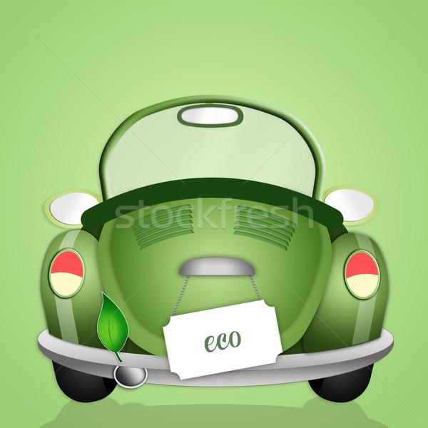 Ecologia ilustração ecológico carro respeito planeta Foto stock © sognolucido