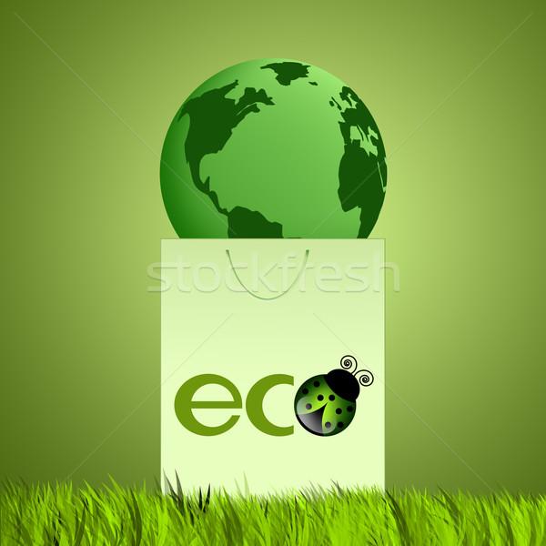 緑 袋 生態学 草 中心 世界 ストックフォト © sognolucido