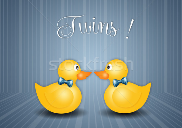 duck toys for twin boys Stock photo © sognolucido