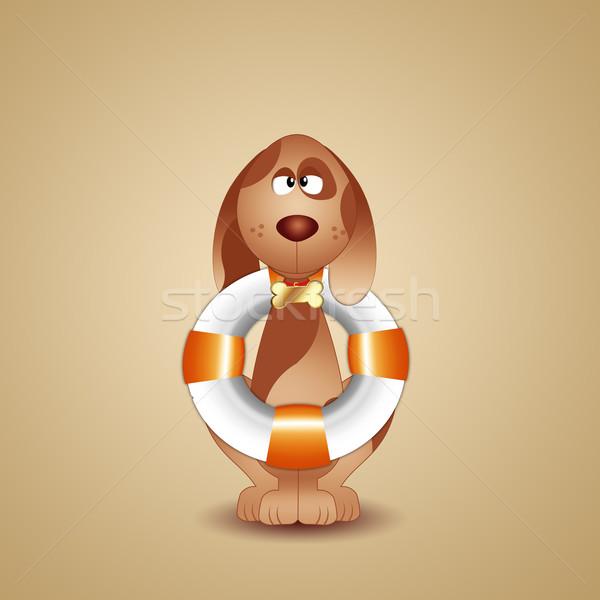 Redding hond illustratie helpen leven gevaar Stockfoto © sognolucido