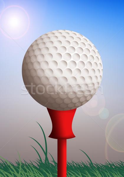 ゴルフボール 緑 実例 スポーツ 楽しい ボール ストックフォト © sognolucido