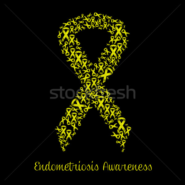 endometriosis awareness with yellow ribbon Stock photo © sognolucido
