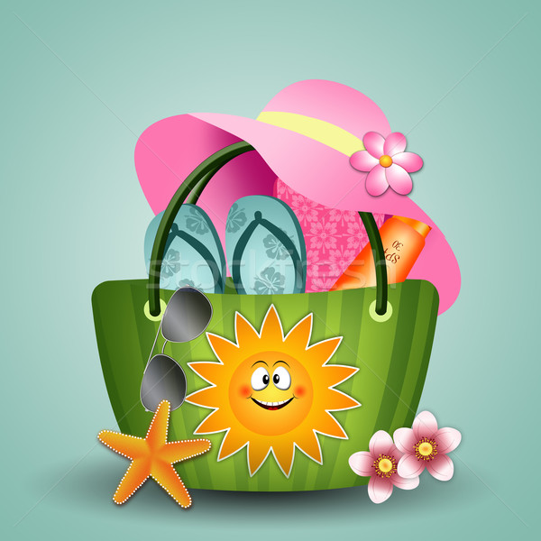 Beach bag with sun Stock photo © sognolucido