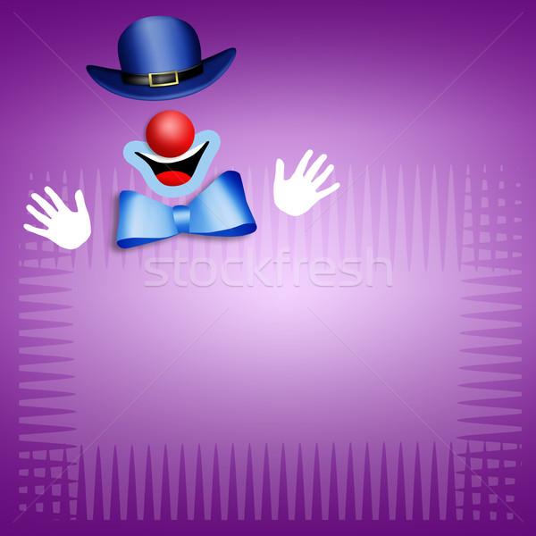 Clown terapii ilustracja fioletowy medycznych tle Zdjęcia stock © sognolucido