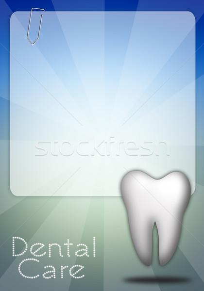 Zahn Zahnpflege medizinischen Medizin Werkzeuge Mund Stock foto © sognolucido