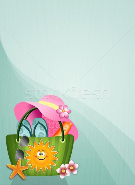 Beach bag background Stock photo © sognolucido