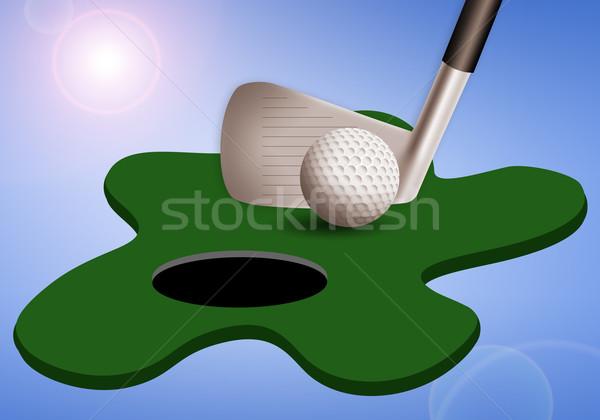 Wyposażenie ilustracja golf sportu zabawy wyścigu Zdjęcia stock © sognolucido