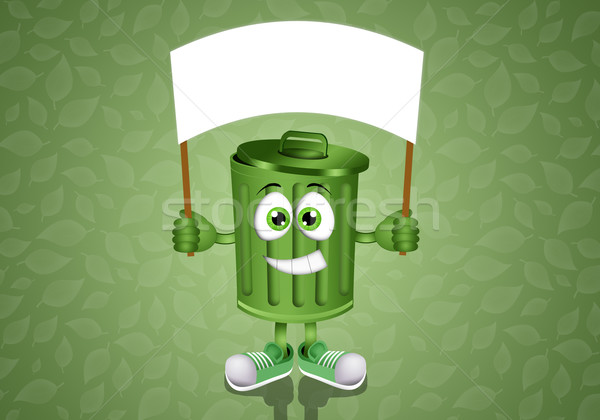 Green garbage bin  Stock photo © sognolucido