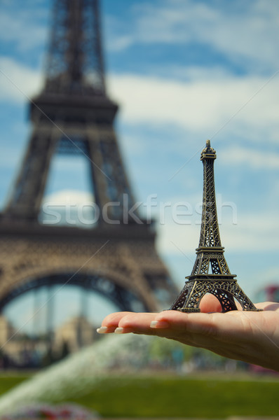 miniature of Eiffel tower in Paris Stock photo © sognolucido