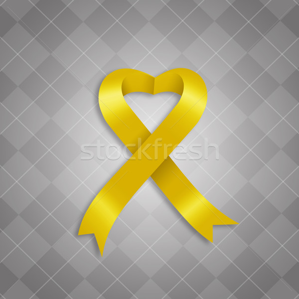 Awareness yellow ribbon Stock photo © sognolucido
