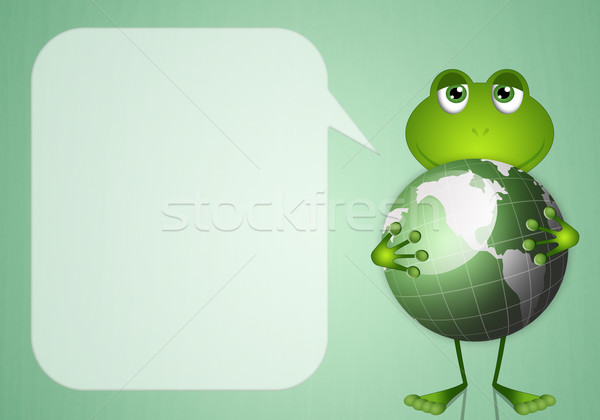 Frog with planet Stock photo © sognolucido