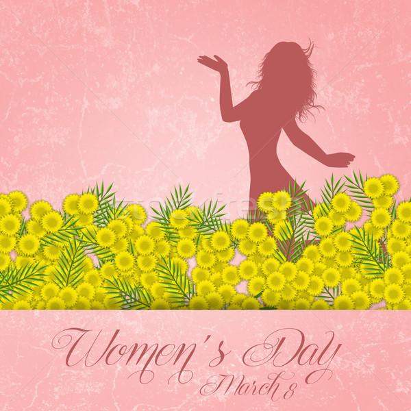 Día de la mujer ilustración flor mujer celebración Foto stock © sognolucido