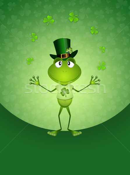 面白い カエル 帽子 実例 聖パトリックの日 緑 ストックフォト © sognolucido