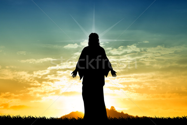 Jesus Christ at sunset Stock photo © sognolucido