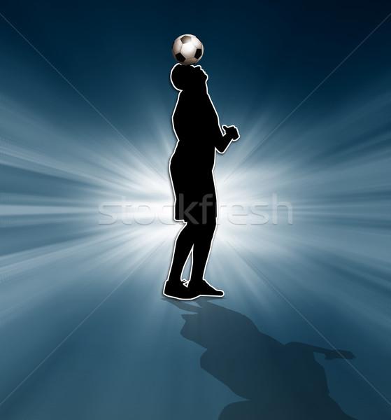シルエット 実例 サッカー スポーツ サッカー ストックフォト © sognolucido