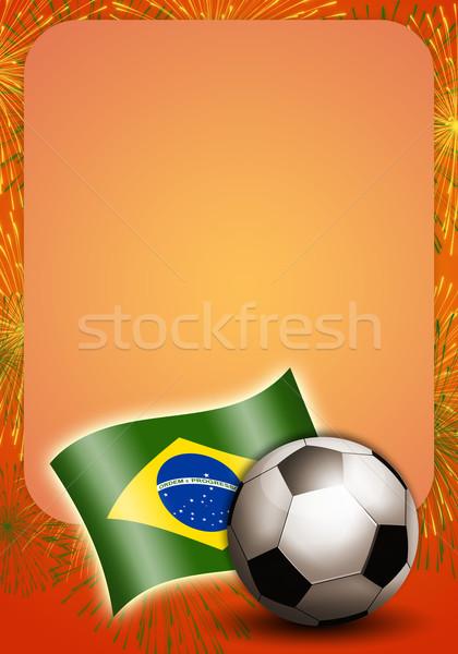 サッカーボール フラグ サッカー 世界 カップ 2014 ストックフォト © sognolucido