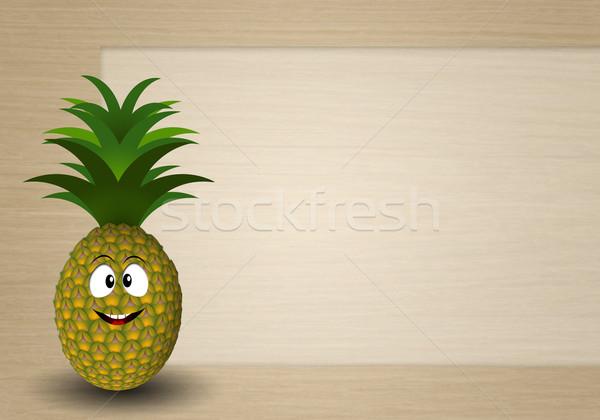 Funny pineapple Stock photo © sognolucido