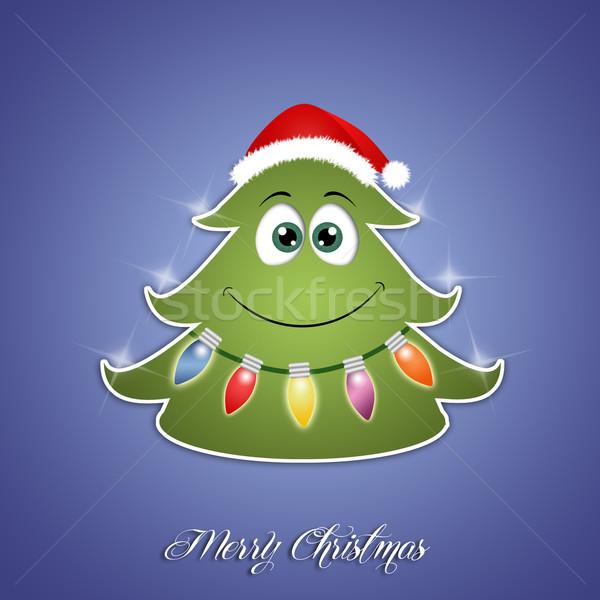 面白い クリスマスツリー ライト 自然 背景 工場 ストックフォト © sognolucido