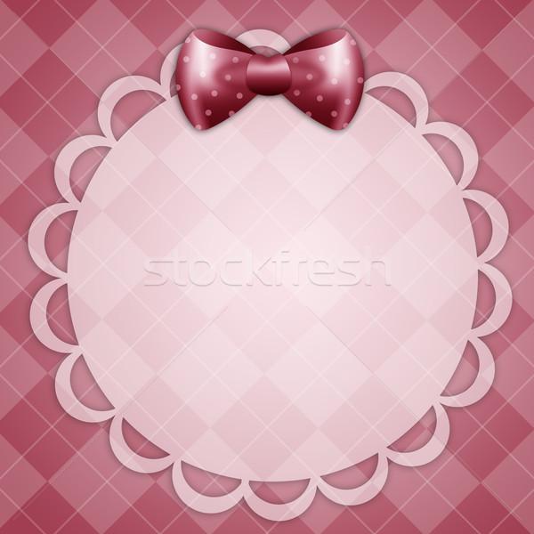 Pocztówkę dziewczyna baby Zdjęcia stock © sognolucido
