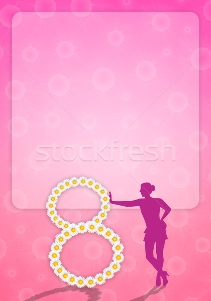 March 8 for Women's Day Stock photo © sognolucido