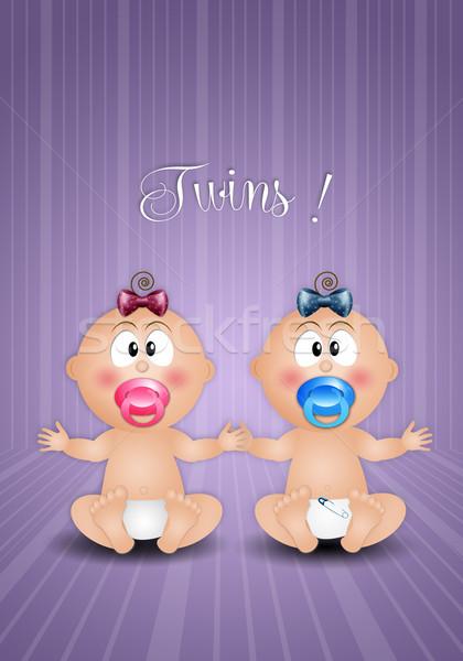 Maschio femminile nascita baby bambino Foto d'archivio © sognolucido