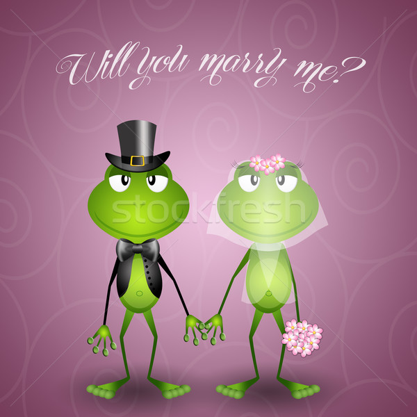 Frog spouses Stock photo © sognolucido