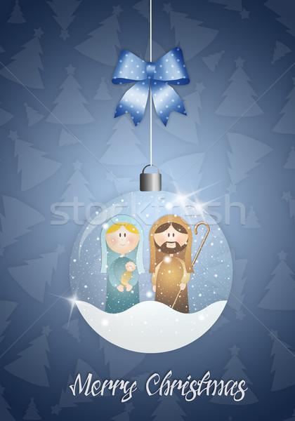 クリスマス ボール シーン 実例 イエス カード ストックフォト © sognolucido