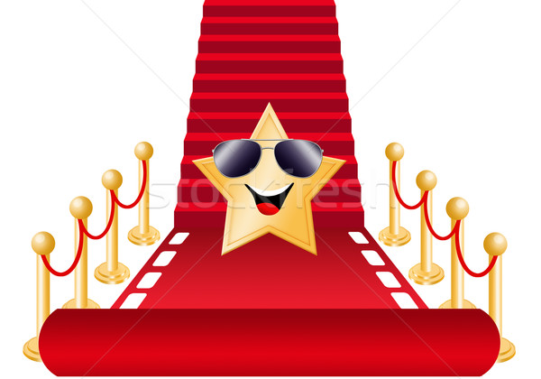 Funny star on red carpet Stock photo © sognolucido