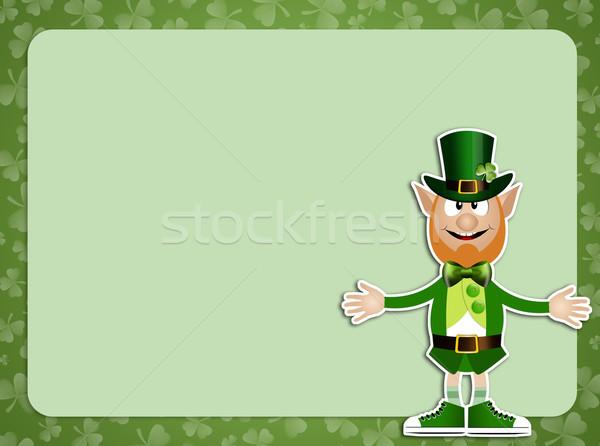 St. Patrick's Day background with Irish man Stock photo © sognolucido