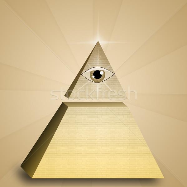 Eye of providence in pyramid  Stock photo © sognolucido