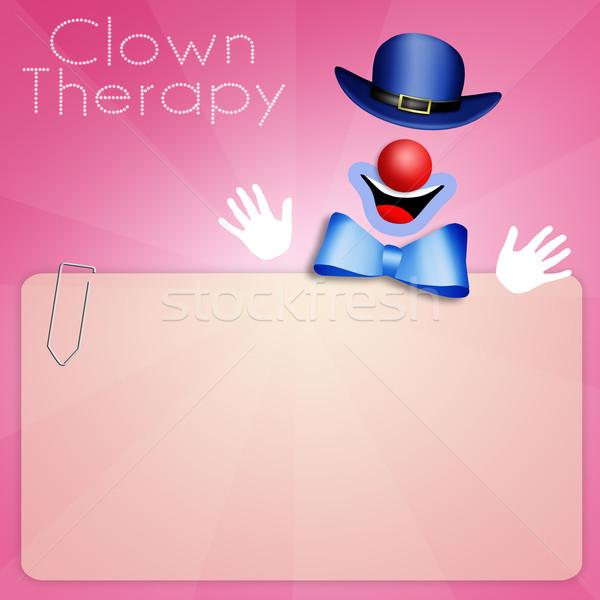 Clown terapii ilustracja medycznych tle muzyka Zdjęcia stock © sognolucido