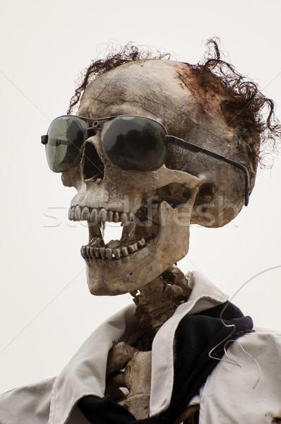 Funny czaszki halloween strony cool wakacje Zdjęcia stock © sognolucido