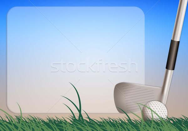 Golf örnek spor eğlence yarış Stok fotoğraf © sognolucido