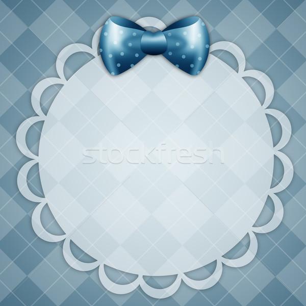 Kartpostal erkek mavi şerit bebek Stok fotoğraf © sognolucido