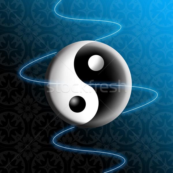 Stock fotó: Yin · yang · természet · éjszaka · fekete · sötét · béke